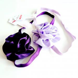 Hårband med blomma i satin x 2
